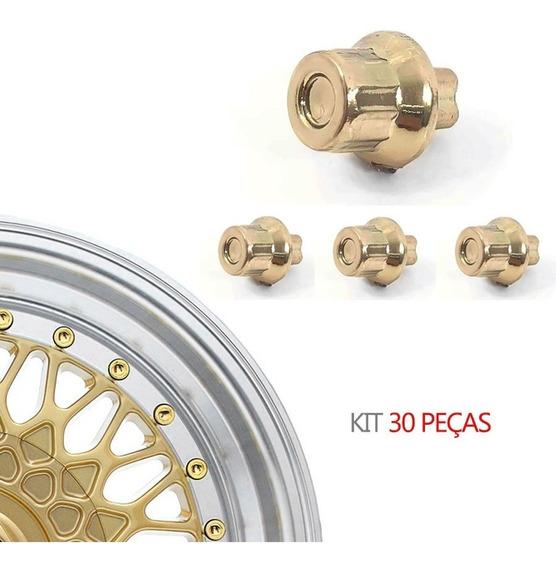 Kit 30 Rebite N 6 Pino Lateral Importado Dourado - Bbs Zunky