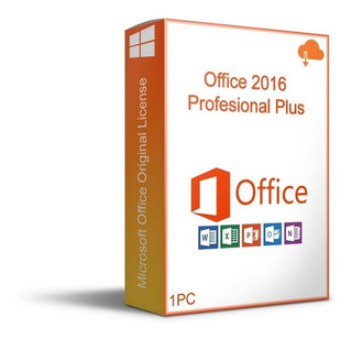Licencia Oficce 2016 Pro Plus 1 Pc Original Permanente