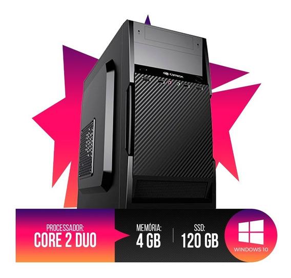 Pc Intel Core 2 Duo, 4gb Ram Ddr3, Hd Ssd 120gb