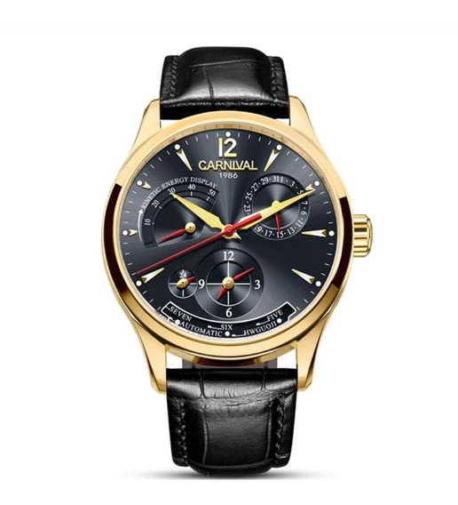 Reloj Chelini Oro 14 Kilates   Acero 46mm   Movimiento Automático 21 Rubíes