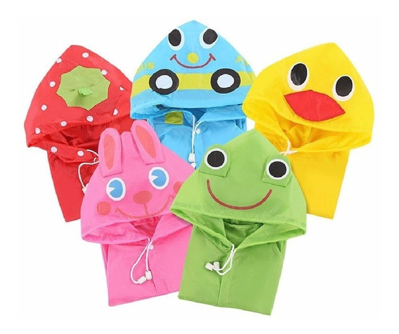 Poncho Capa Impermeable Niños Paraguas Lluvia Kinder Escuela