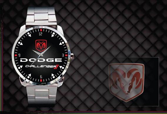 Relógio De Pulso Personalizado Logo Dodge Challenger Top