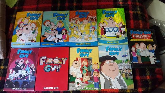 Dvds Originais Family Guy Volumes Um A Oito +filme