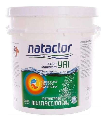 Imagen 1 de 7 de Cloro Instantáneo Multiacción X 10 Kilos Nataclor Rinde + Mm