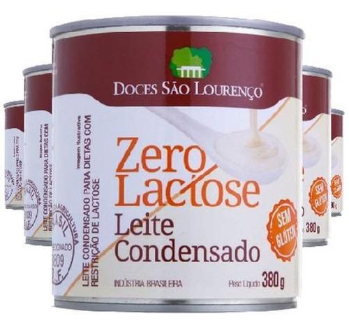 Imagem 1 de 2 de 6x Leite Condensado Zero Lactose São Lourenço 380g