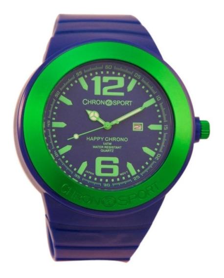Reloj Chronosport New Happy Azúl Eléctrico/verde Tienda Ofi