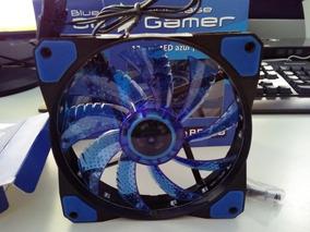 Kit Com 2 Cooler Bluecase Gamer 120mm Led Azul Bf-02b