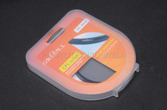Filtro Polarizador 62mm Cpl Green.l Filtro Pl Filtro Cpl