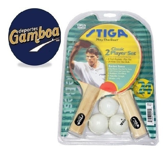 Combo De Raquetas/pelotas Para Pingpong Classic Stiga