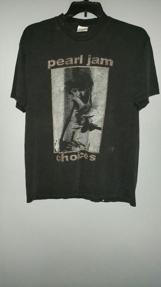 Playera Pearl Jam Choices Vintage 1992 Rara Antigua Talla Xl