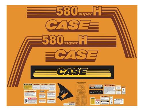 Kit Adesivos Retroescavadeira Case 580 Super H  Mk