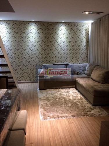 Apartamento Duplex Com 3 Dormitórios À Venda, 126 M² Por R$ 745.000,00 - Vila Augusta - Guarulhos/sp - Ai19658