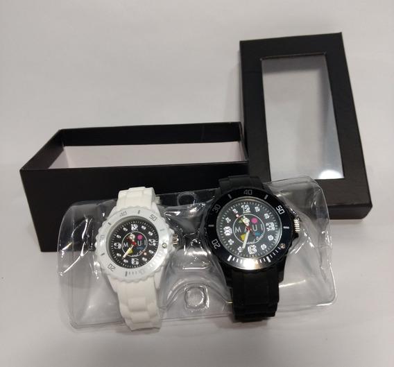 Conjunto Relógios Pulso Maui Masculino E Feminino 2 Peças