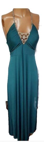 Vestido Crepe Marylin Con Aplique De Strass, T 3 - Liquidac
