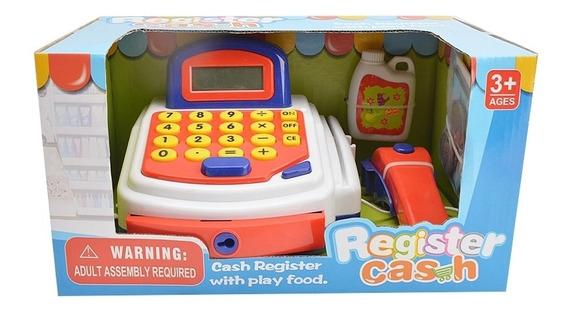 Caixa Registradora Infantil Branca Cartao Moedas Dinheiro