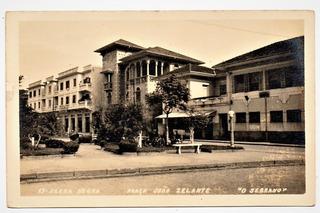 Cartao Postal Praça João Zelante - Serra Negra - Sp Anos 50