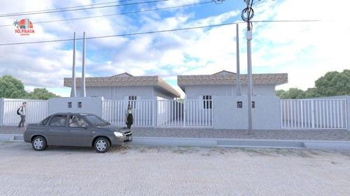 Imagem 1 de 14 de Casa Com 2 Dormitórios À Venda, 67 M² Por R$ 230.000 - Itaguaí - Mongaguá/sp - Ca5392