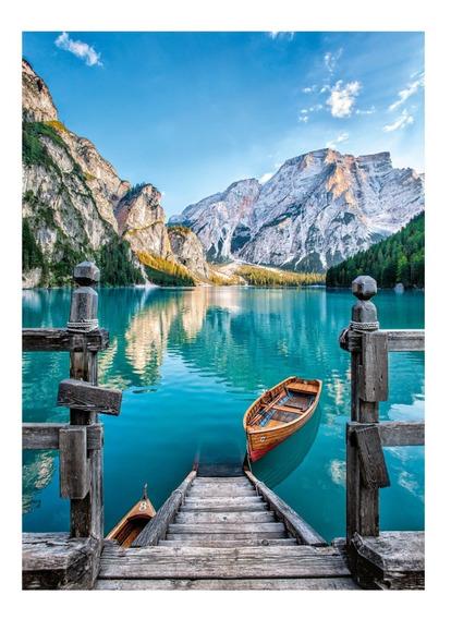 Lago Braies Dolomitas Italia 500 Pz Rompecabezas Clementoni