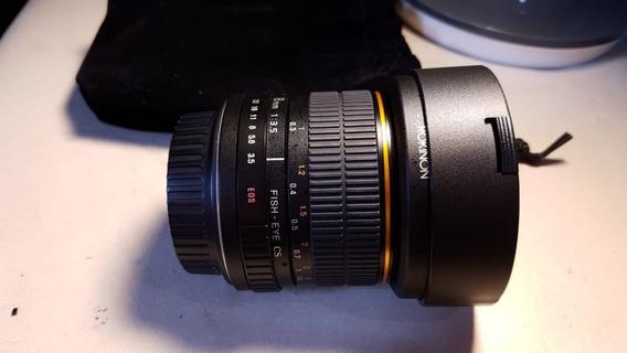 Lente Fish Eye Rokinon 8mm 3.5 Canon Ef-s