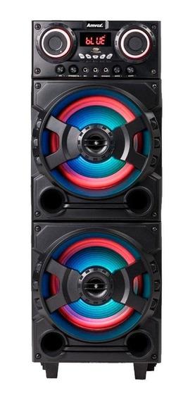 Caixa De Som Amplificada Amvox Aca 751 New-x 750w Rms Usb Fm