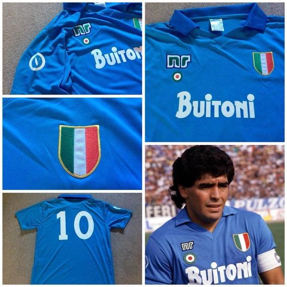 Camiseta Napoli Maradona Retro Buitoni
