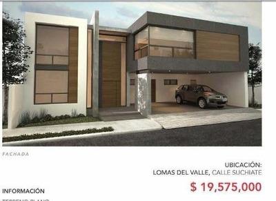 (lct) Proyecto De Hermosa Residencia En Venta, Lomas Del Valle
