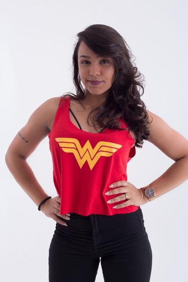 Regata Cropped Herois Ww Mulher Maravilha Dc Comics Festas