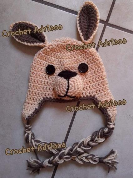 Gorro Canguro Bebés Crochet