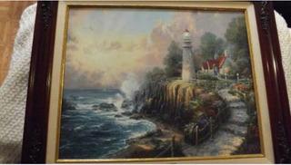 Pintura Cuadro En Oleo- Thomas Kinkade-certificado