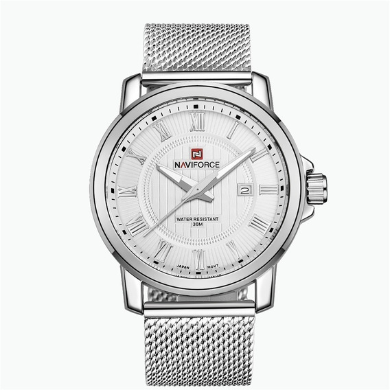 Relógio Naviforce Luxo Nf9052 Aço Inoxidável Social Elegance