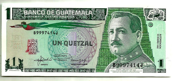 Guatemala - 1 Quetzal - Fe - 12357 - Frete Grátis