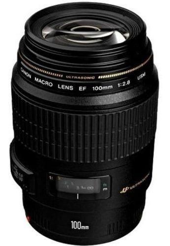 Lente Canon Ef 100mm F/2.8 Macro Usm - Garantia 12 Meses