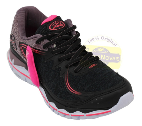 Tênis Olympikus Feminino 100% Original Preto/rosa + N F