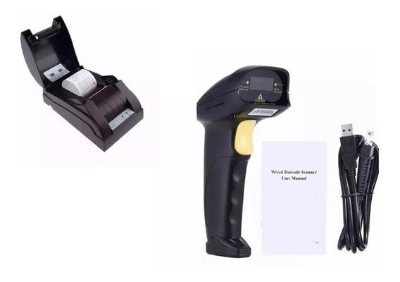 Impressora Termica Nota Fiscal 58mm + Leitor De Código Barra