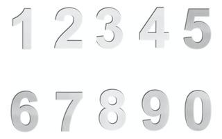 Número Exterior Casa Acero Inoxidable Adhesivo 8 Cm Altura