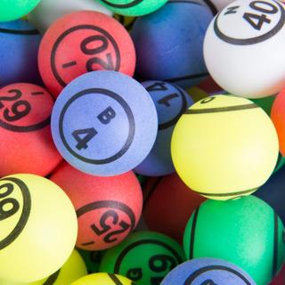 Multi Color Doble Número Bingo Juego De Pelota Por El Sr.