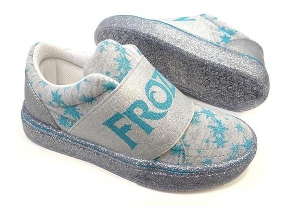 Tênis Frozen Grendene Prata 21468