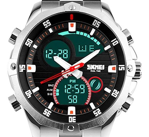 Relógio Masculino Skmei Esportivo Prata Original