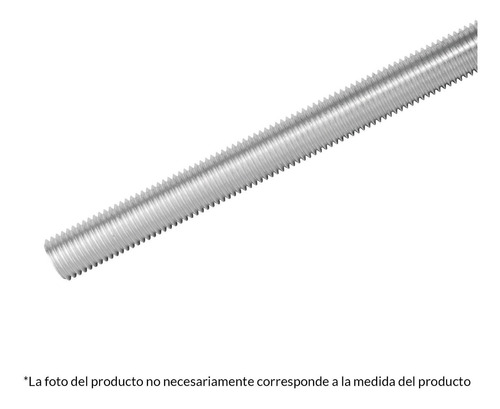 Varilla Roscada Galvanizada 6mm X 1m