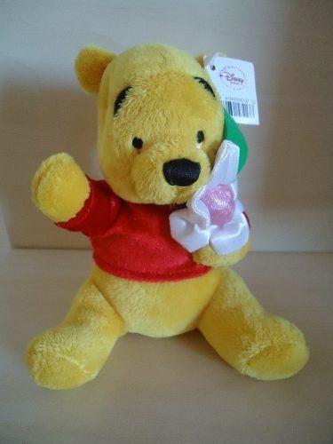 Modelo 02 Ursinho Pooh / Poof Com Flor 18 Cm Disney