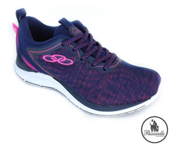 Tênis Esportivo Feminino Day Olympikus Running Evasense Azul