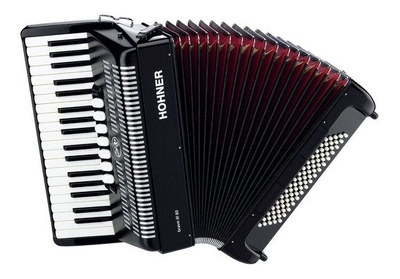 Hohner Bravo 3 80 Acordeon A Piano 80 Bajos 37 T 5(7)r