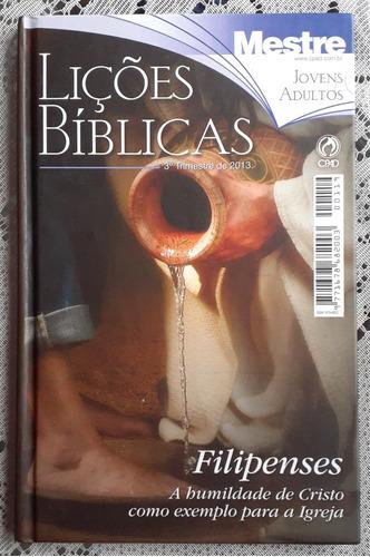Revista Lições Bíblicas Cpad Capa Dura 3° Trimestre De 2013