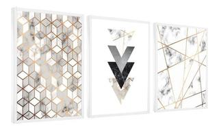 Quadro Mosaico Abstratos Lindos Geométricos Quarto Sala Br
