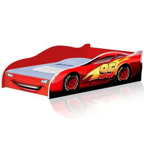 Mini Cama Para Crianças Com Colchão 150x70cm Vermelha/ver