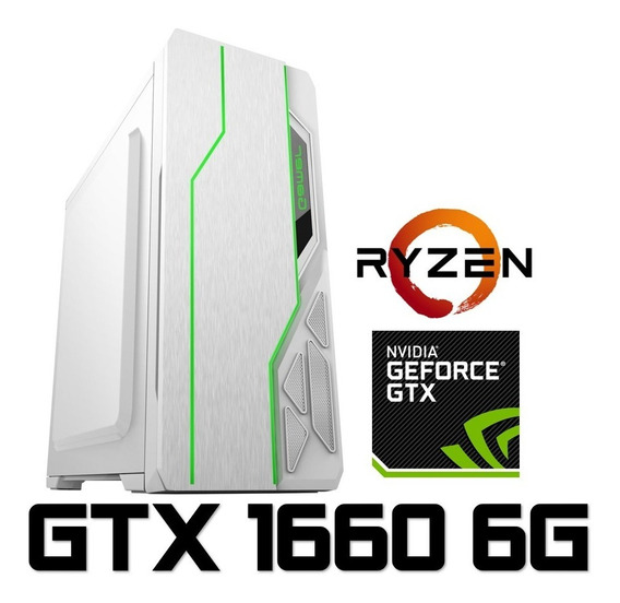 Pc Gamer Ryzen 2600, 16gb, Ssd 480gb, Geforce Gtx 1660 Oc 6gb