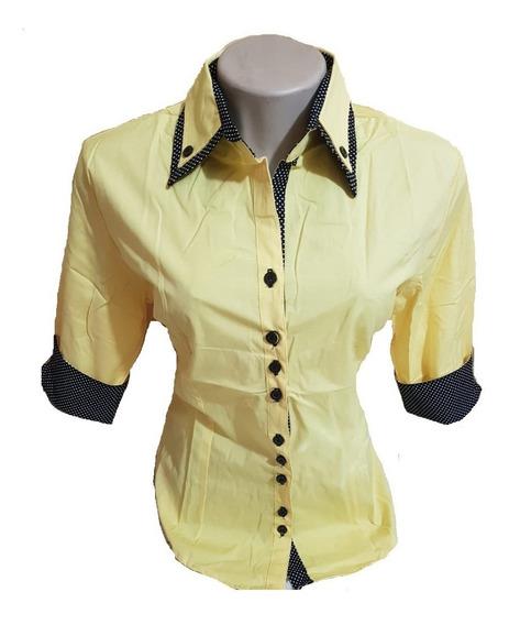 Camisa Social Feminina 3/4 + Brinde