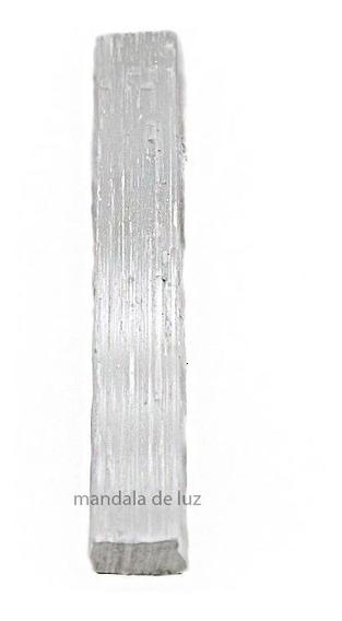 Bastão De Selenita Energia Cristal Pedra Natural Bruta