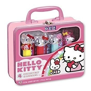 Pez Hello Kitty 4 Pez Dispensers Seis Rolos Doces Pjk01