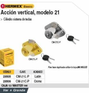 Cerradura Para Mueble Basic Modelo 21 Laton Truper